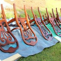 Dining Chairs Spray Painting Dining Chairs