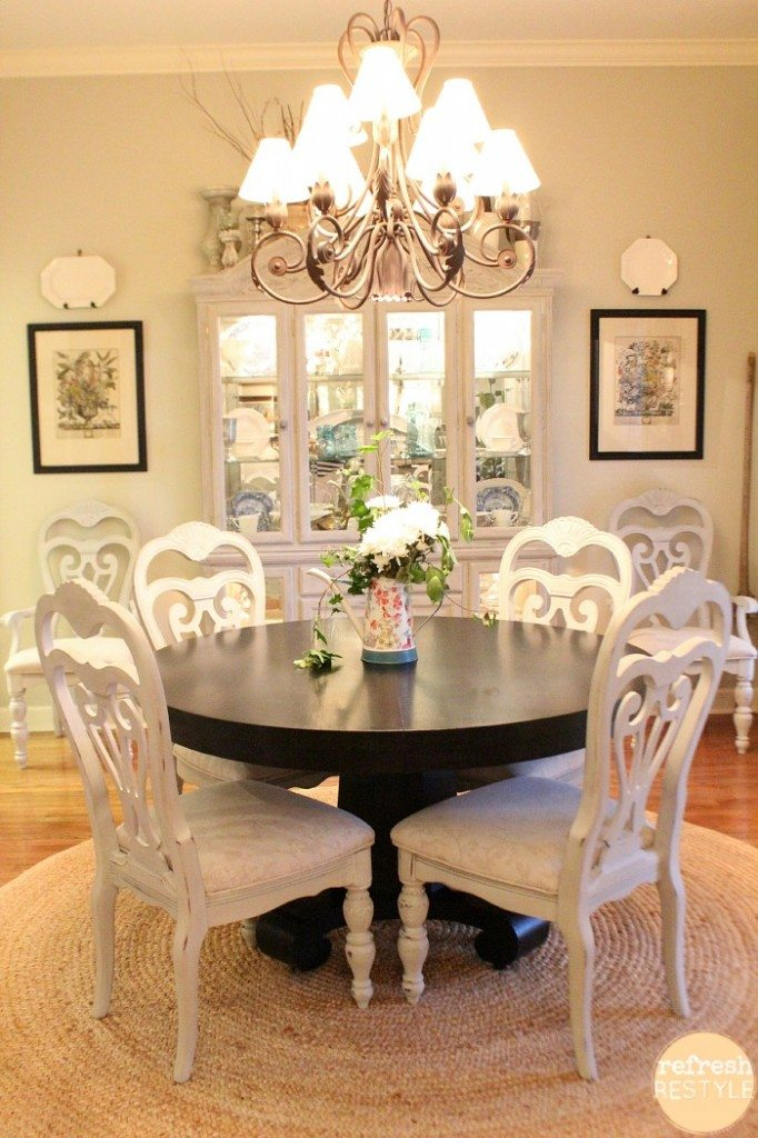how to spray paint dining chairs | refresh restyle