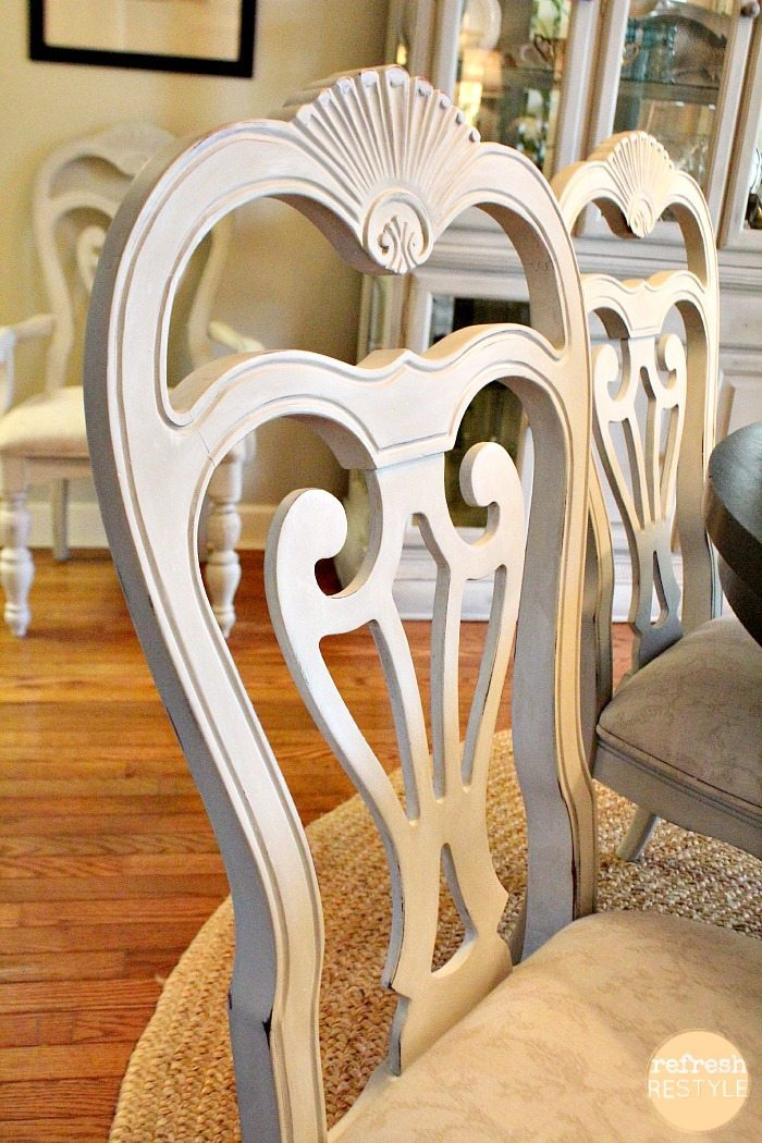 dining chairs painted waxed - Painting Dining Room