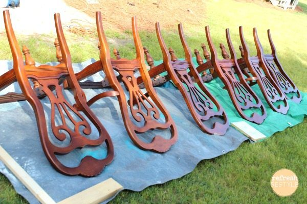 dining chairs spray painting dining chairs - Painting Dining Room