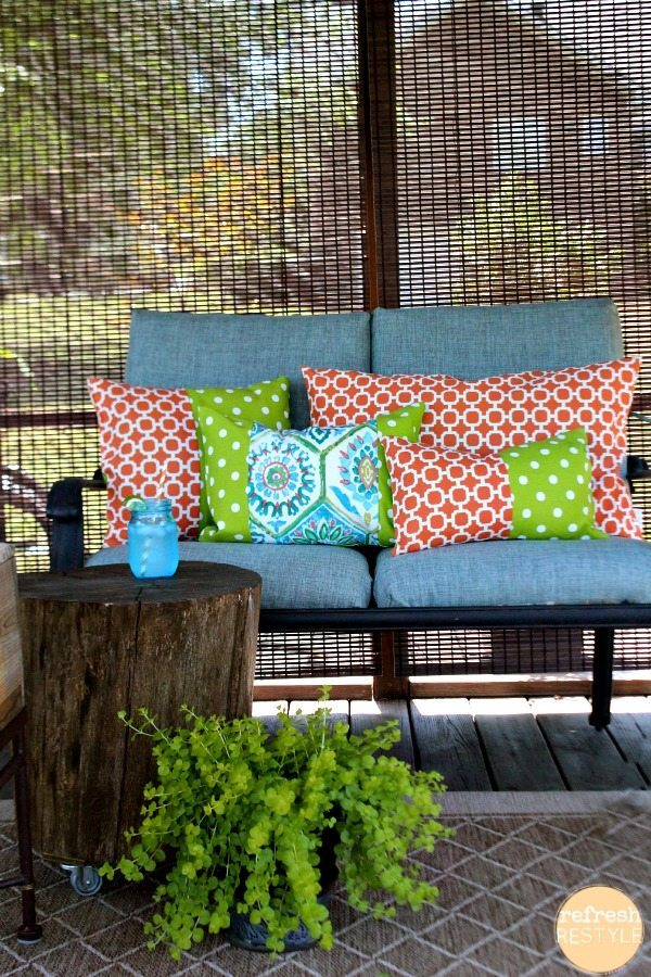 Fabric Loveseat pillows