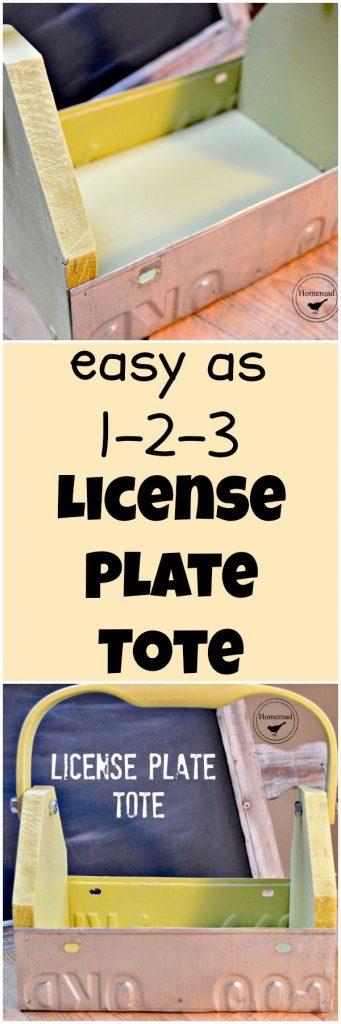 License Plate Tote