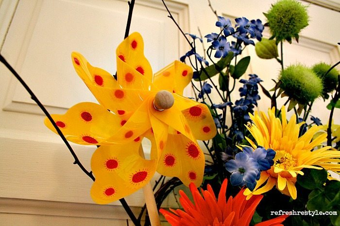 Pinwheel door decor