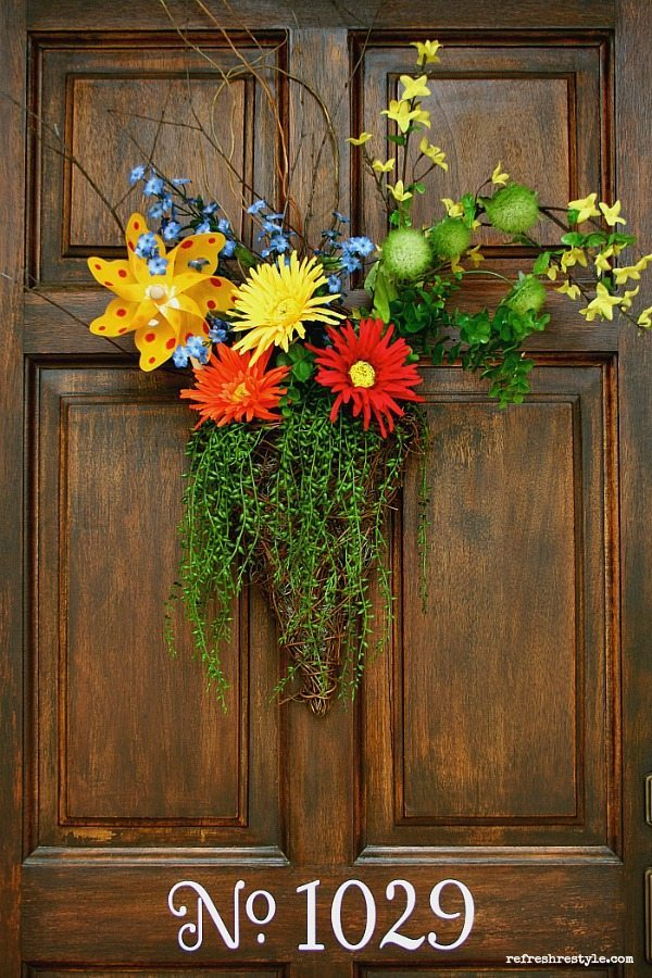 Pinwheel Inspired Door Decor