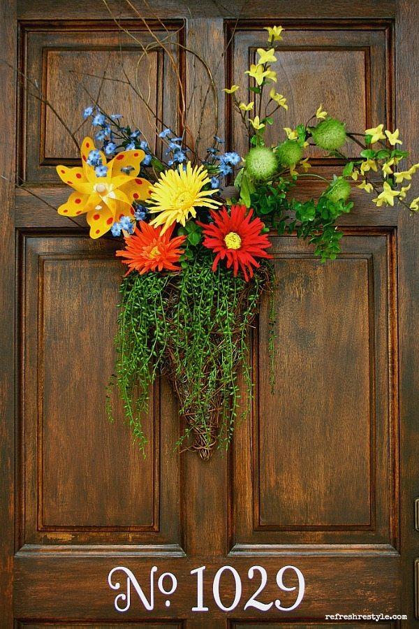 Pinwheel Inspired Door Decor