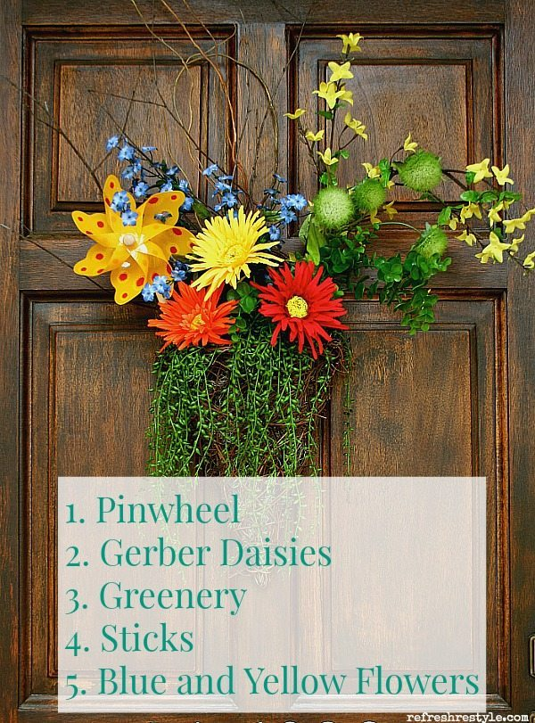 Pinwheel Inspired Door Arrangement