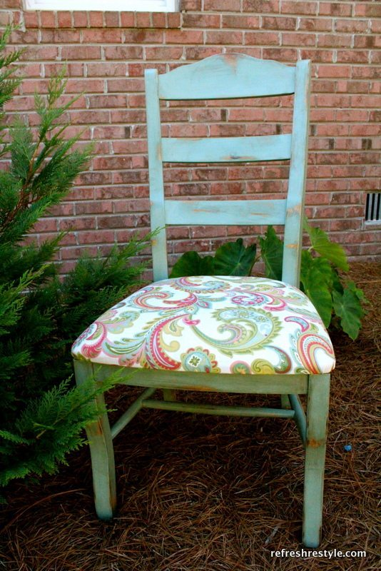 Painted Chair with Arms removed