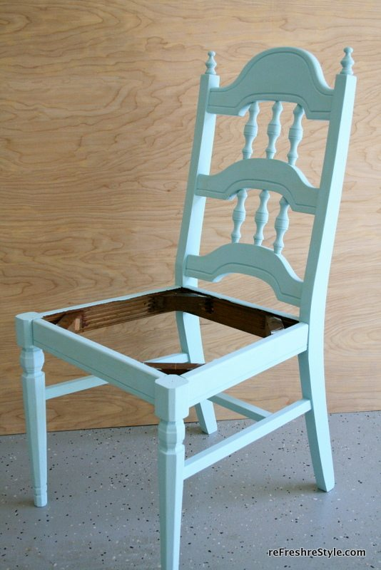 Chair Make over - hand painted
