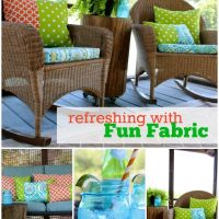 Combine 1 yard pieces for fun patterned pillows!