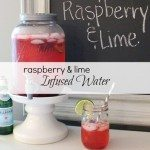 Raspberry and Lime Infused Water