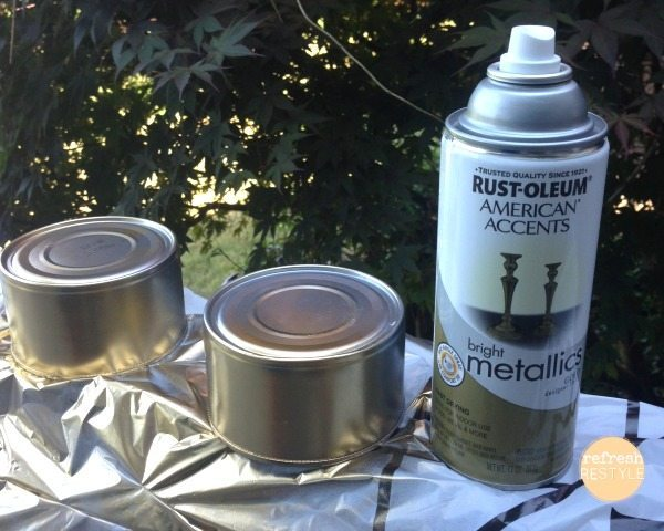 tealights gold paint