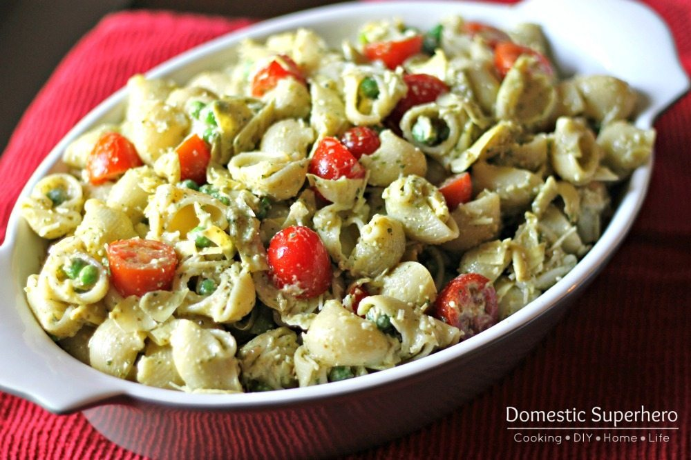 09 - Domestic Superhero - Creamy Pesto pasta Salad