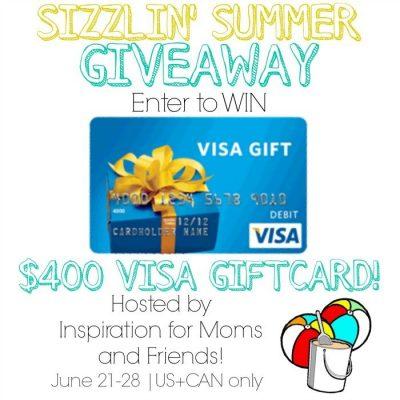 Sizzlin' Summer Giveaway {$400 Visa Card}