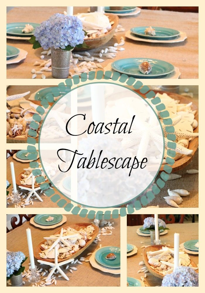 Coastal Tablescape Ideas #coastaldecor #beachtable