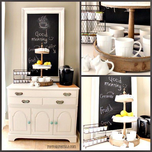 Farmhouse Coffee Caddy #coffeebar #farmhouse #farmhousedecor #ad