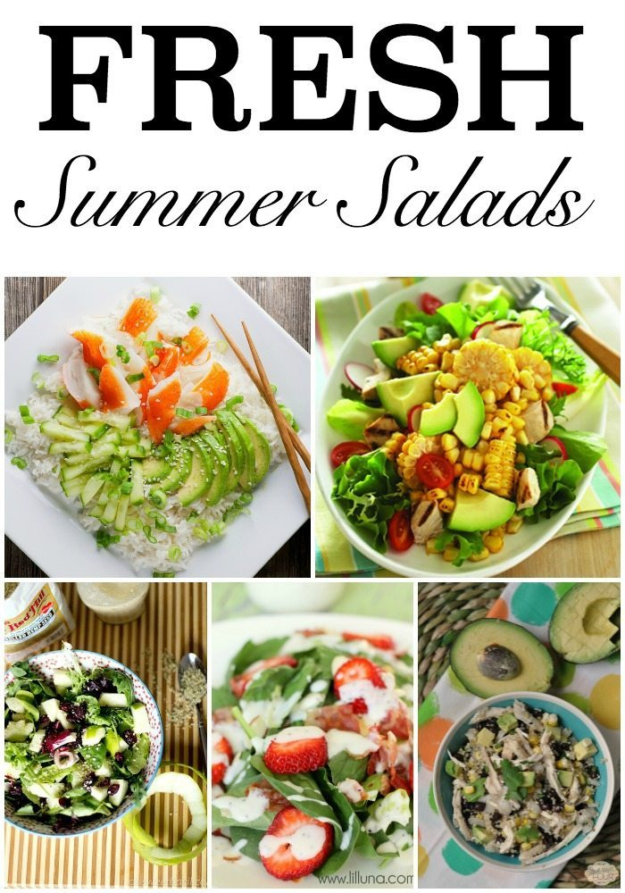 Fresh Summer Salad Recipes #summerfood #recipes #salad