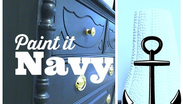 Navy #maisonblanchepaint #paintedfurniture #ad
