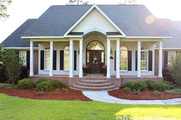 Create a colorful front porch.
