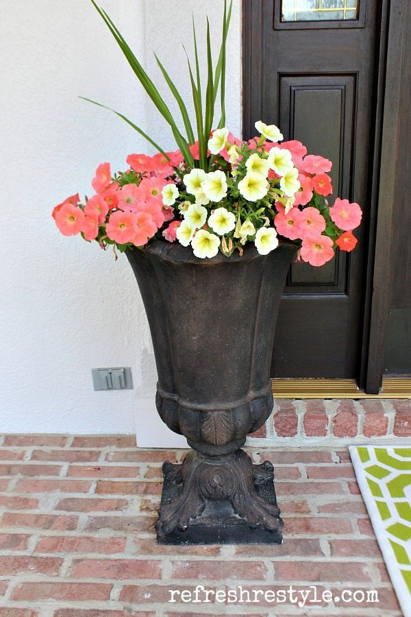 Create a colorful front porch