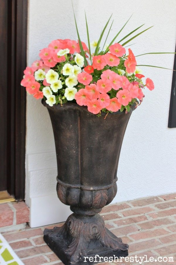 Match your flowers with your door decor