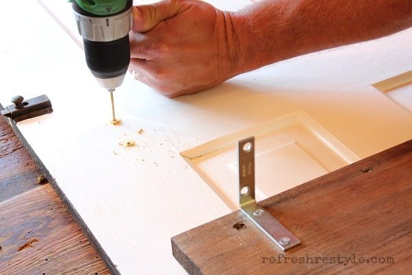 How to Create a Door Shelf #diyproject #olddoor #painteddoor