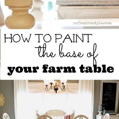 How to Paint a Farm Table