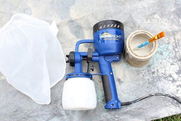 How to spray paint wicker - HomeRight Finish Max #homeright #finishmax #spraypaint #ad