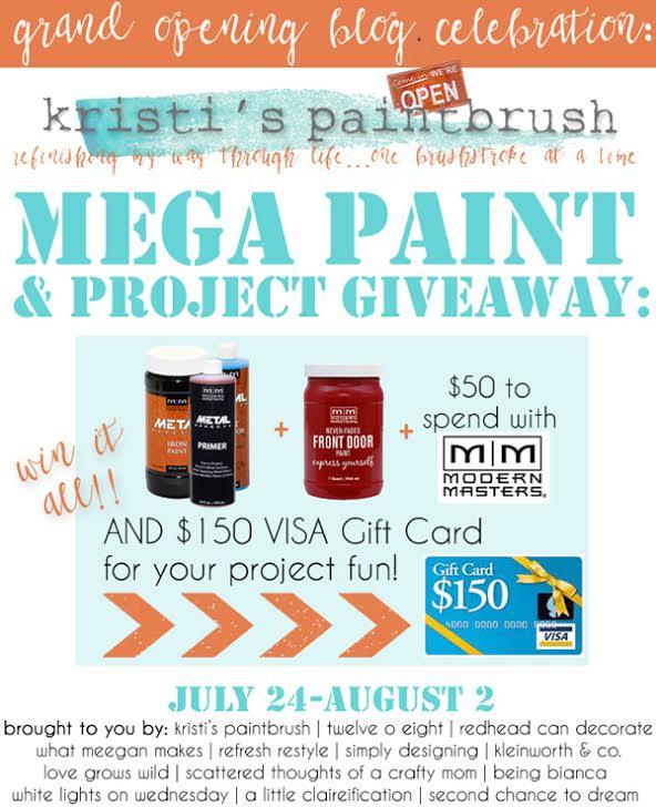 Mega Paint giveaway Kristi's Paint Brush #giveaway