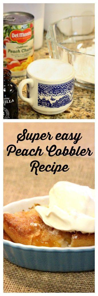 Super Easy Peach Cobbler