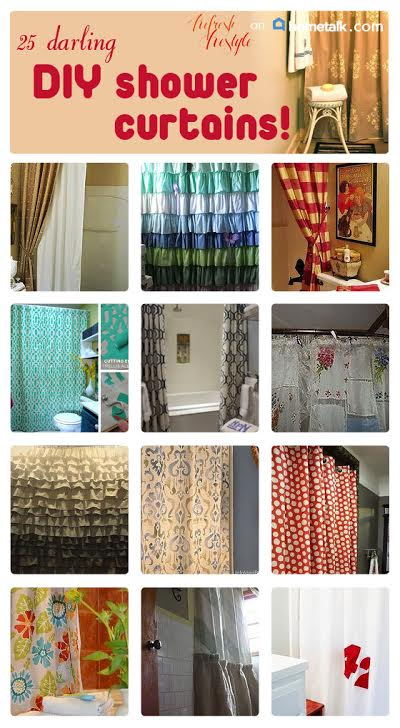 diy shower curtains - 25 Awesome Ideas