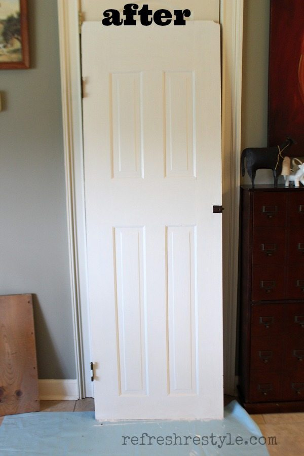 How to Create a Door Shelf #diyproject #olddoor #painteddoor