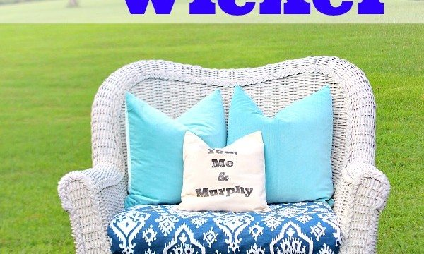 How to spray paint wicker - HomeRight Finish Max #homeright #finishmax #spraypaint #ad