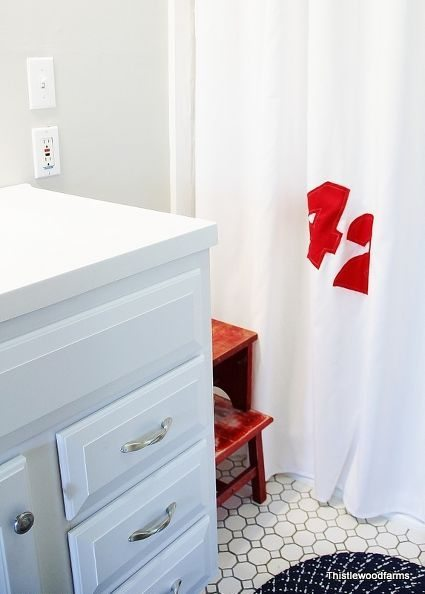 Sailcloth Shower Curtain - DIY Shower Curtains