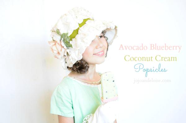 05 - JoJo and Eloise - Avocado Blueberry Coconut Cream Popsicles