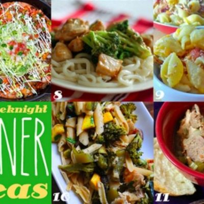 Weeknight Dinner Recipes and Inspiration Monday!