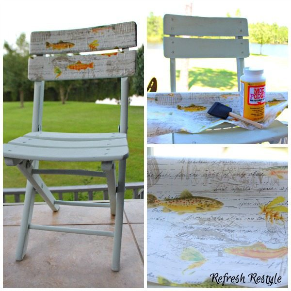Decoupage with Mod Podge Chair Decoupage #decoupage #modpodge #furnituremakeover