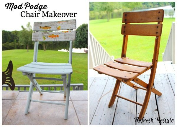 Mod Podge Chair Makeover Mod Podge Chair #decoupage #modpodge #furnituremakeover
