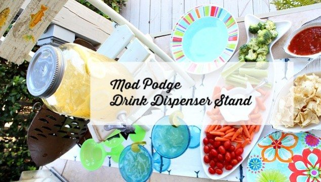 Mod Podge Decoupage Drink Stand