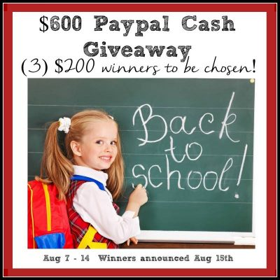 Back To School $600 Giveaway