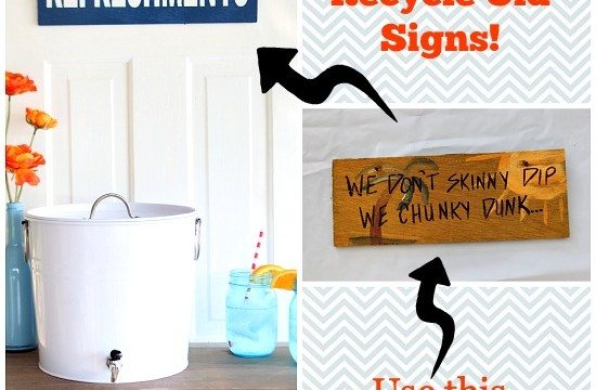 old signs - easy DIY #recycle #signs #upcycle