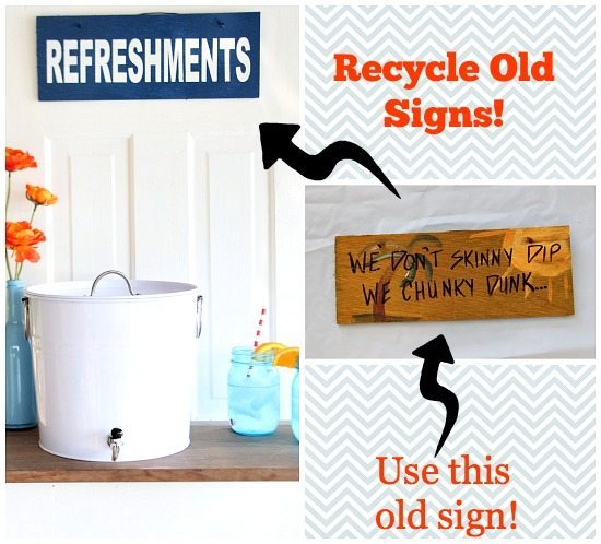 How to make a sign - old signs - easy DIY #recycle #signs #upcycle