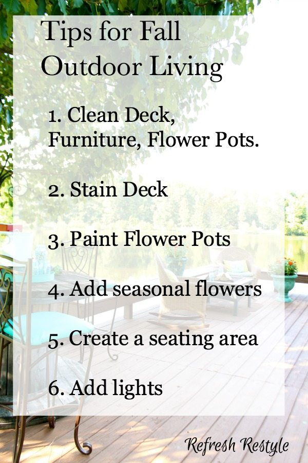 Tips for sprucing up for fall