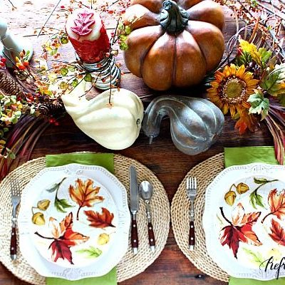 How to Decorate Your Farm Table Fall Edition