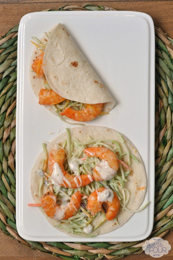 01 - Just Us Four - Buffalo Shrimp Tacos