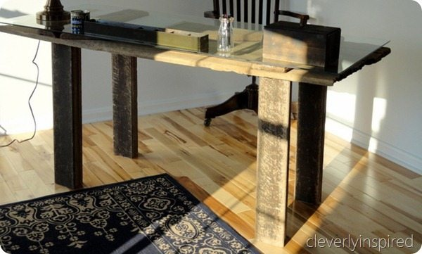 02 - Cleverly Inspired - DIY Barn Door Desk
