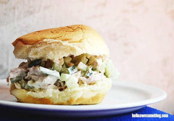 02 - DIY Candy - Cucumber Chicken Salad Sandwich