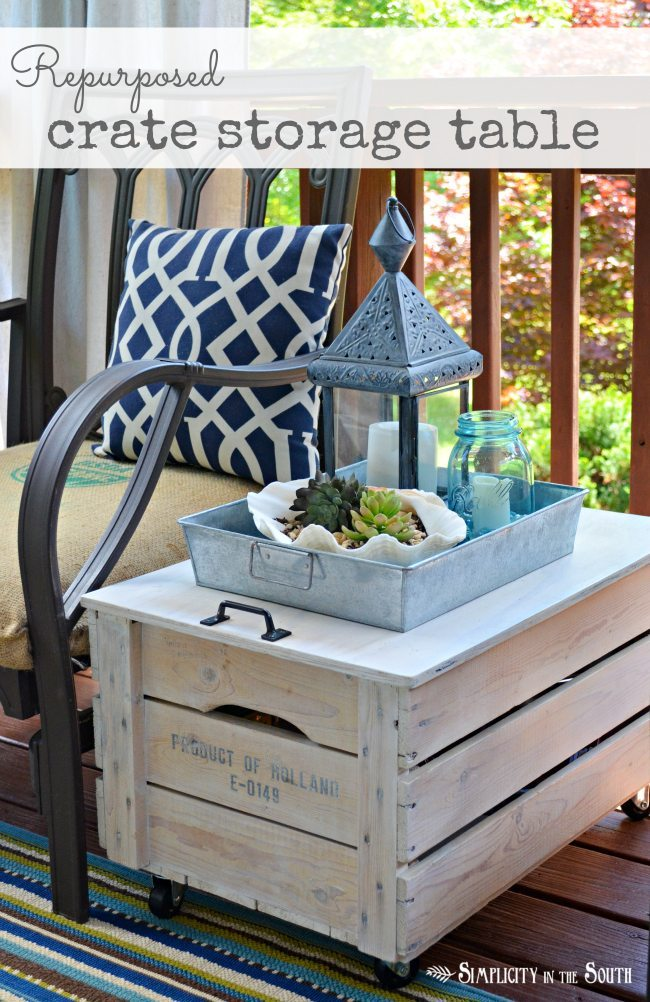 08 - Infarrantly Creative - Wooden Shipping Crate Table
