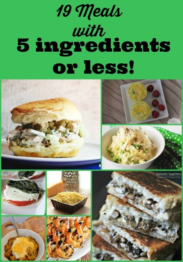 Five Ingredients Or Less Recipes Refresh Restyle