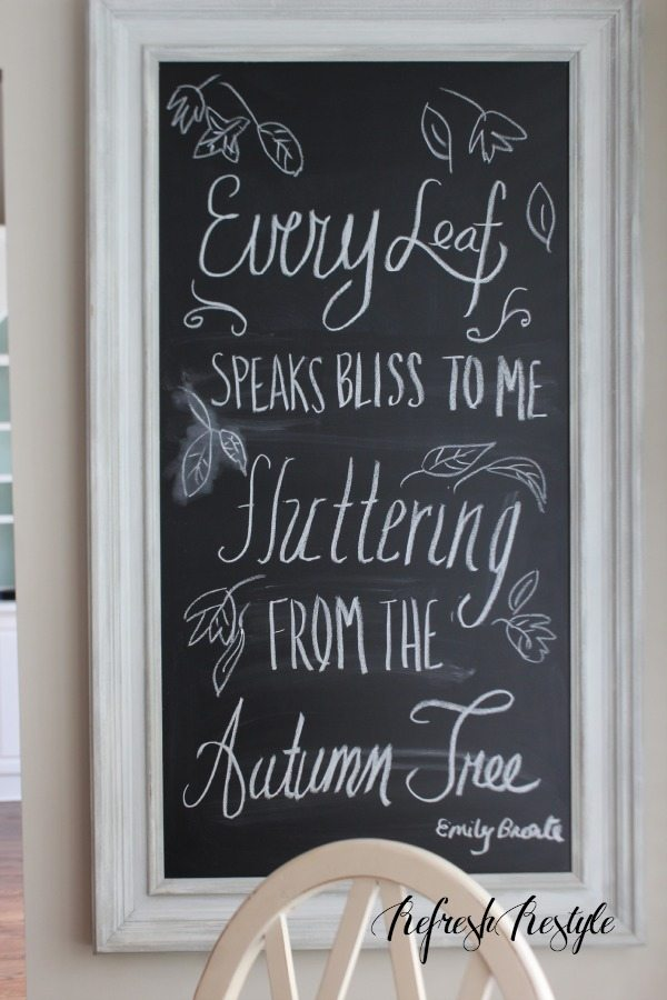Fall Decor #diy #chalkboard