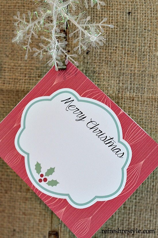 Free Vintage Gift Tags Christmas at refreshrestyle.com